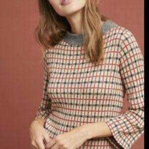 Anthropologie Plaid McKinley Pullover Sweater  XS